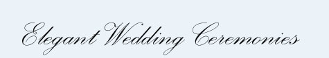 Elegant Wedding Ceremonies